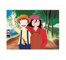 Tom Sawyer and Huckleberry Finn Art Print
