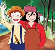 Tom Sawyer and Huckleberry Finn by Nornberg77