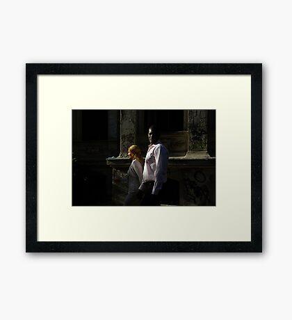 Street Scene Framed Print