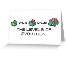 The Levels Of Evolution #001-#003 Greeting Card