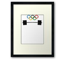Olympic Lifter Framed Print