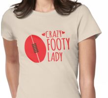 Crazy Footy Lady Womens Fitted T-Shirt