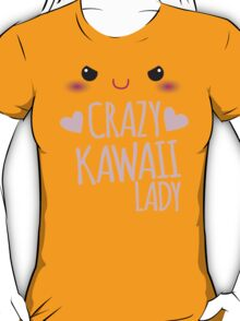 Crazy Kawaii Lady with cute little face T-Shirt