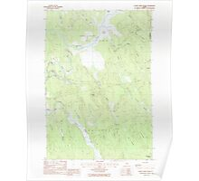 Maine USGS Historical Map Otter Chain Ponds 102851 1988 24000 Poster