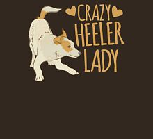 Crazy Heeler Lady Womens Fitted T-Shirt