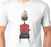 Vintage Retro Barber Hair Dryer And Chair Unisex T-Shirt
