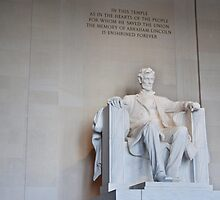Abraham Lincoln at the Lincoln Memorial in Washington DC by Kent Burton