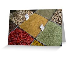 Spices Greeting Card