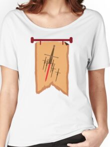 BANNER CREST SIGIL with six swords Women's Relaxed Fit T-Shirt