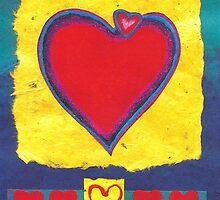 BIG HEART - LOVE - BE MY VALENTINE - Pastel-Design-Collage by RubaiDesign