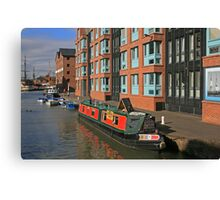 Narrow Boat, Gloucester Docks Canvas Print