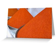 Perfect piles of orange Greeting Card