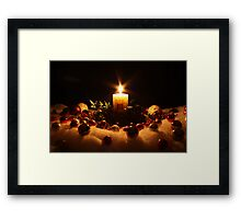 A Candle for Christmas Framed Print