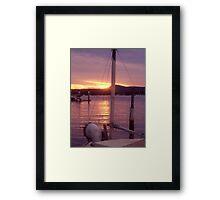 sunset over the bow Framed Print