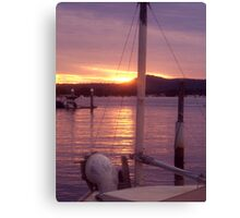sunset over the bow Canvas Print