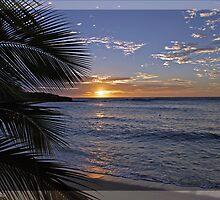 Sunset @ Barefoot Island, Fiji by bombamermaid