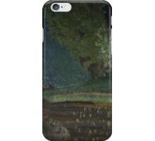 Landscape with the boat iPhone Case/Skin