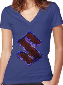 Suzuki graffiti Women's Fitted V-Neck T-Shirt