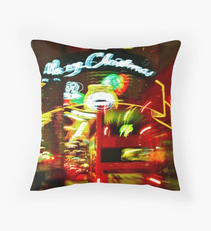 Christmas decorations, Oxford street, London, No 2 Throw Pillow