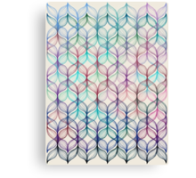 Mermaid's Braids - a colored pencil pattern Canvas Print