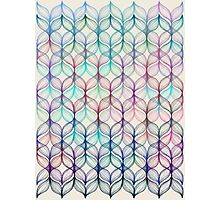 Mermaid's Braids - a colored pencil pattern Photographic Print