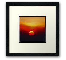 Autumn Sunset: Socal Style Framed Print