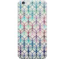 Mermaid's Braids - a colored pencil pattern iPhone Case/Skin