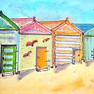 Brighton Bathing Boxes by Julie Fitzpatrick