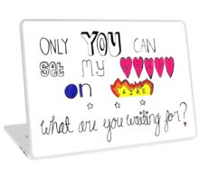 Lyrics from Love Me Like You Do  Laptop Skin