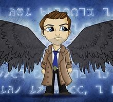 Angel in a Trenchcoat by NikkiWardArt