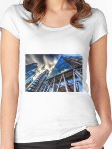 The Lloyd's of London Cheesegrater and Willis Group London Women's Fitted Scoop T-Shirt