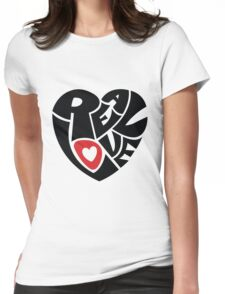 Real Love Womens Fitted T-Shirt