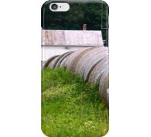 Hay Rolls on the Side of the Road   ^ iPhone Case/Skin