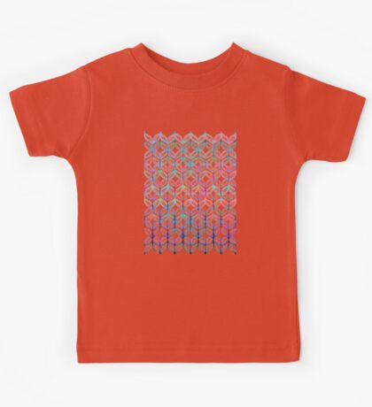 Mermaid's Braids - a colored pencil pattern Kids Tee