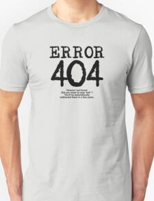 Error 404 Heaven not found T-Shirt