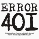 Error 401 unauthorized. by FrontierMM