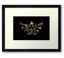 The Golden Power - Triforce Framed Print