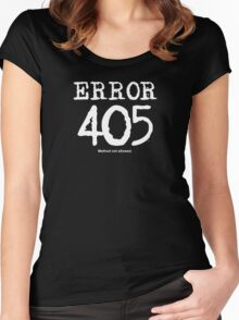 Error 405. Method not allowed. Women's Fitted Scoop T-Shirt