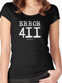 Error 411. Length required. Women's Fitted Scoop T-Shirt