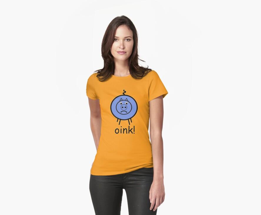 Oink is a little BLUE :o( by Sharon Stevens