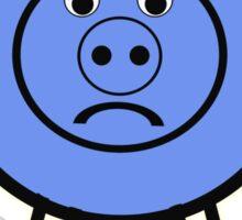 Oink is a little BLUE :o( Sticker