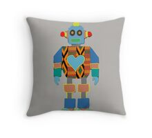 Kente Bot Throw Pillow