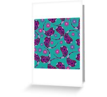 Paisley colorful Greeting Card