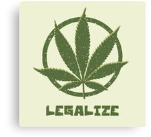 Legalize Canvas Print