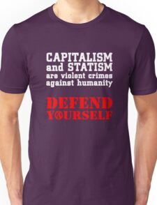 Capitalism and Statism Are Crimes Unisex T-Shirt
