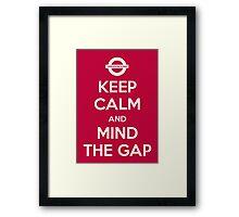 Mind the Gap Framed Print