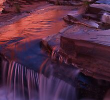 Reflective Falls by Stephen  Williams