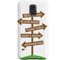 Direction Sign to Disney's Fictional Locales Samsung Galaxy Case/Skin