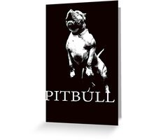 american pitbull Greeting Card