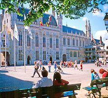 Bruges City Hall by Priscilla Turner